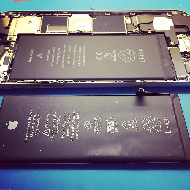 Клиент обратился с Iphone 6s который разряжался с большой скоростью. Заряд держался около 2 часов. После разборки телефона было обнаружено повреждение аккумулятора. Мы пришли к заключению о необходимости замени батареи. Батарею клиент заказывал сам  и после замены клиент остался довольный. Если Вы видите что телефон стал гораздо быстрее разряжаться,  то вполне вероятно что его аккумулятор уже изжил свое. Мы обязательно Вам поможем!!!#KompuTerra #ремонт #компьютеров #городе #Вроцлав #профессионально #качественно #мастер #техника #починка #интересное #новости #польша #дёшево #проблемы #телефон #починить #замена #запчасти #купить #комплектующие #срочно #Wrocław #Wroclaw #Polska #majster #naprawa #laptop #komórka #instalike